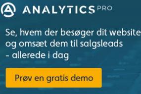 Analytics PRO - Fra anonyme website-besøgende til kvalificerede leads