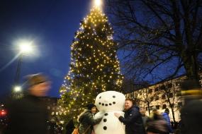Årets STØRSTE julegaver på Rådhuspladsen i Aarhus