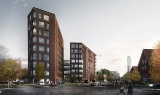 Blumersgade, Opførelse af boliger og domicil