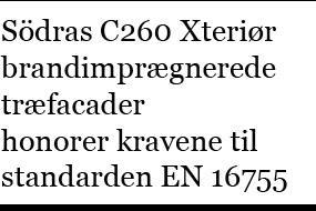C260 Xteriør er testet af RISE i følge EN 16755