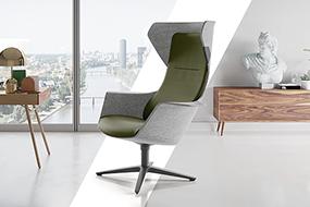 Design stol med læselys, varme og massage
