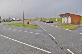 Etablering af linjeafvanding på rasteplads Hærvejen