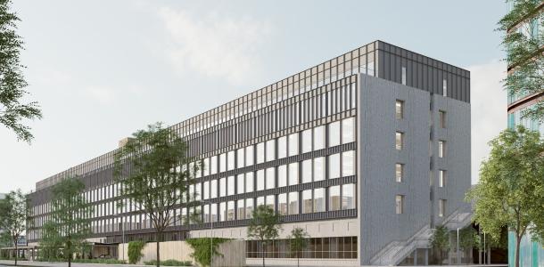 Innovativ løsning mindsker belastningen på bygningen og muliggør det ønskede facadeudtryk