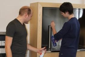 Installation af vandkølere på Tech College Aalborg