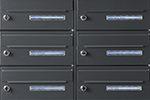 Postkasseanlæg med navne-display og el-låse