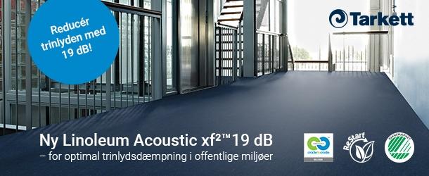 Skab bedre akustik i offentlige miljøer med Linoleum Acoustic xf²™19 dB