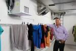 Tørrerum til personaleomklædning