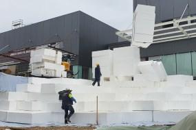 Trykaflastning: Sundolitt leverer EPS letfyld-blokke til pandemi-hospital